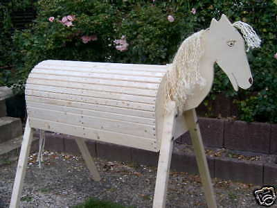 NEU Holzpferd Voltigierpferd Holzpony Pferd Pony -NEU- 114 cm 1