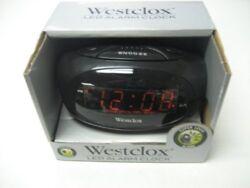 Westclox 70044A Electric Alarm Clock, 0.6 In Digital, Red? LED Display, Black