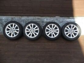 """16"""" Bmw alloy wheels with 225 50 16 tyres pcd 5x120"""