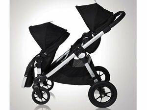 Double Baby Jogger City Select + second seat+adapter