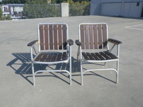Redwood Aluminum Chair Ebay