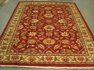 Exclusive Rare Chobi Mahal Zeigler Vege Dyed Traditional Area Rug Hand Knotted Carpet (9.7 x 7.11)'