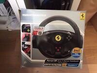 Ferrari Thrustmaster GT 2in1 Force Feedback Steering Wheel PC & PS2