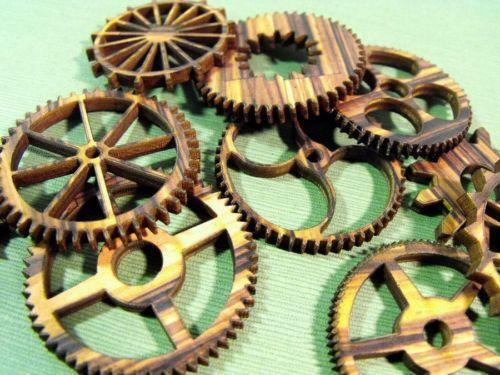 Wooden Gears Altered Art Amp Collage Ebay