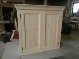 Solid pine kitchen wall cupboard ( can make to size)