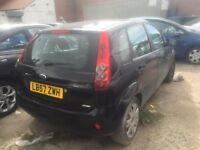 2008 FORD FIESTA STYLE TDCI BLACK DAMGED SALVAGE SPARES 81K MILES STARTS
