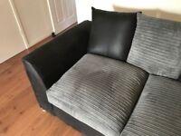 2 x 2 Black & Grey Sofas in good condition