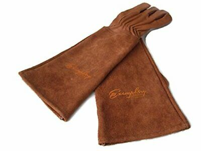 Rose Pruning Gloves for Men and Women. Thorn Proof Goatskin Leather Gardening