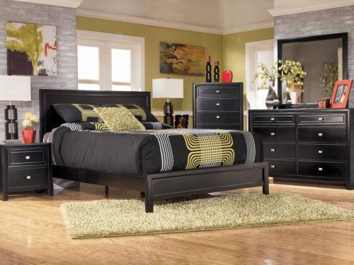 black bedroom sets king black king bedroom furniture set ebay 14569