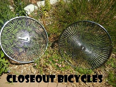 """CLOSEOUT!!!   BICYCLE HEAVY DUTY STEEL WHEELSET 26"""" X 144 SP"""