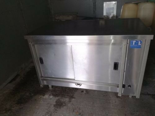 Commercial gas hot cupboard food warmer restaurant catering