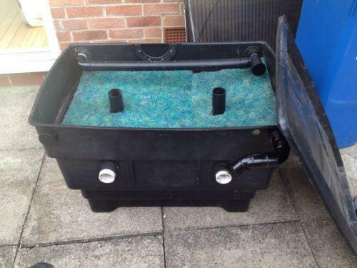 Pond filter box ebay for Set up pond filter system