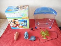 Elite Fish Tank and Accessories Animal Water Goldfish Aquarium Set 21 Litres