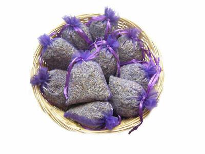 10 Lavendelsäckchen Duftsäckchen Schrankduft lila Organza