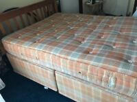 king size bed with mattress can deliver