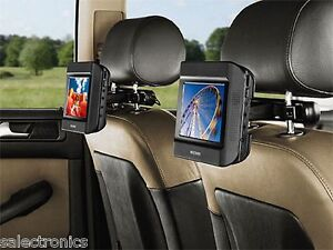 Nextbase CLICK 7 DUO DELUXE Dual Screen Portable DVD Players w/ Headrest Mounts