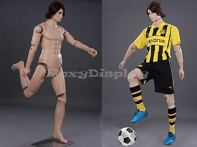 Male Mannequin Dress Form Display With Flexible Head Arms And Legs Md-z-mfxf