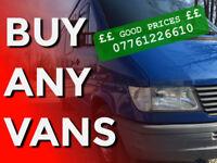07761226610 Buy any cars vans trucks caravan all Mercedes Sprinter - Good Prices
