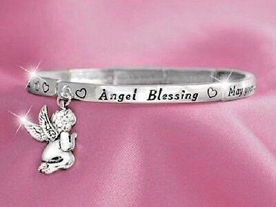 Angel Blessing Pray Spirit Heaven Religious Guardian Cherubim Bracelet  164 B