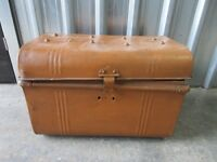 RUSTIC LOOK VINTAGE METAL CHEST - FASHIONABLE STORAGE - GREAT UP-CYCLE PROJECT ONLY £20!!! WOW