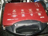 Imetec Grill & Toast 455 FL Professional 2000 Watt