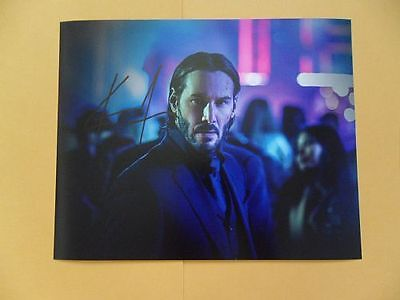 Keanu Reeves 8X10 Autographed John Wick Photo