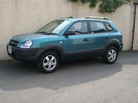 HYUNDAI TUCSON 2.0 CRTD GSi,2004 04 REG, TURBO DIESEL 4x4,MOT ONE FULL YEAR.