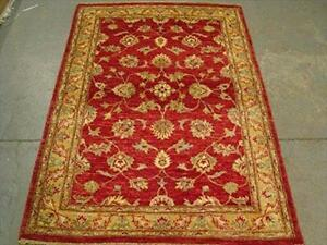 Exclusive Chobi Veg Dyed Mahal Zeiglar Rectangle Area Rug Hand Knotted Carpet (5.11 x 4.2)'