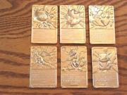 23 Karat Gold Plated Pokemon Cards