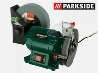 """BRAND NEW💥💥💥Powerful 250W Double Bench Grinder WET & DRY, 8"""" wet/6"""" dry Grinding Discs"""