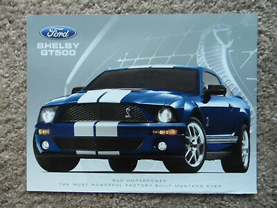 (NEW 2007 Ford Mustang Shelby GT500 Fact Sales Sheet Brochure + Specs)