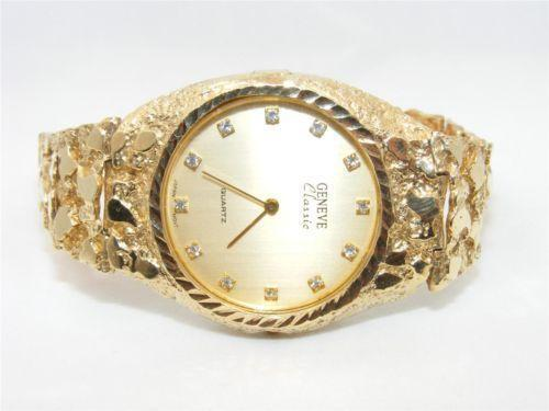 Gold Nugget Watch Band Ebay