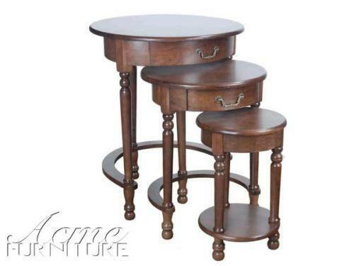 Round nesting tables ebay for Small stackable coffee tables