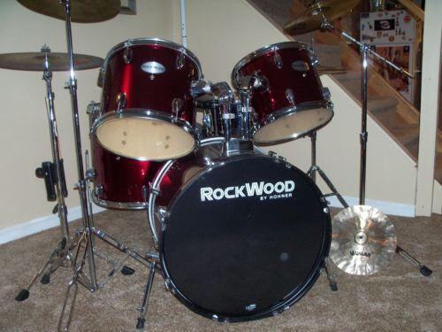complete used drum set ebay. Black Bedroom Furniture Sets. Home Design Ideas