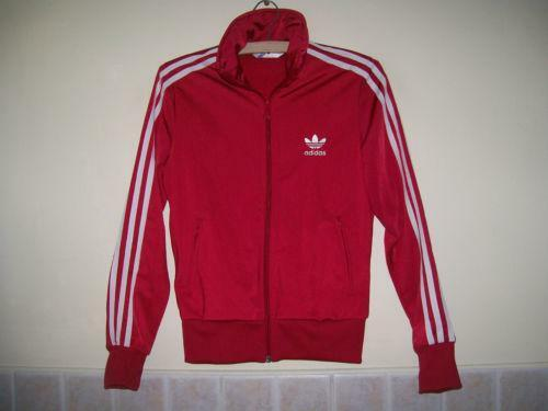 Adidas Track Suit Red Ebay