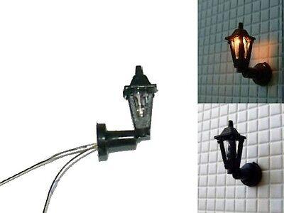 S093 - Set 10 Stück Straßenlampen Wandlampe 1-flammig 1,5cm hoch Lampen