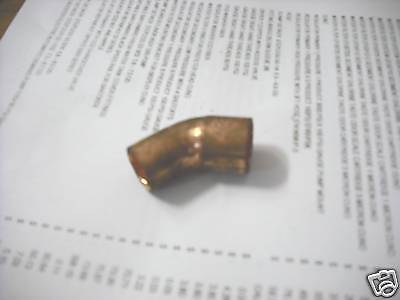 """Copper 45 Elbow Street  For 5/8"""" O.D."""
