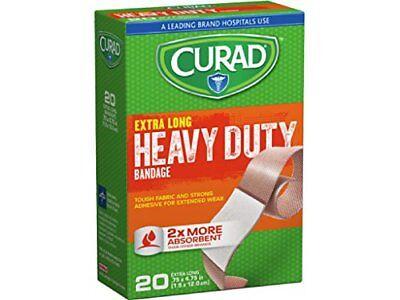 CURAD Heavy Duty Bandage Extra Long 20 Each .75 x 4.75 in