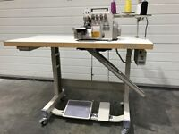 Jack industrial 4thread overlock machine complete brand new