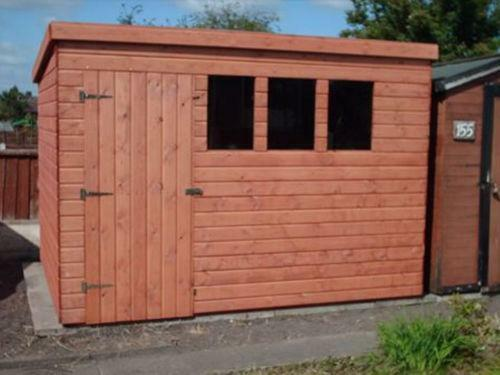 Heavy duty pent shed ebay for Cheap garages for sale