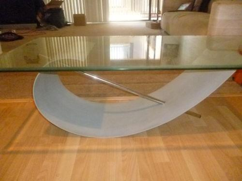 Used Glass Coffee Table Ebay