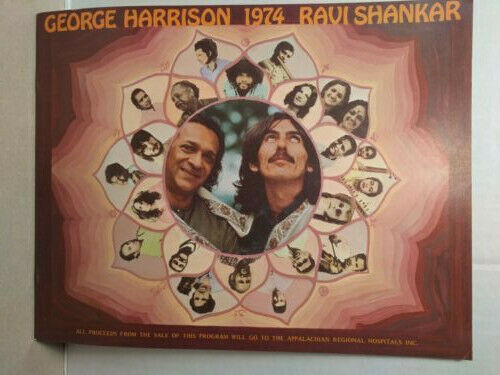 GEORGE HARRISON, RAVI SHANKAR 1974 Concert Tour Book- unused!