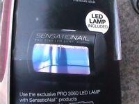 SENSATIONAIL BY NAILENE PRO 3060 LED UV LAMP NAILS/ MANICURE & 3x NEW COAT COLOR