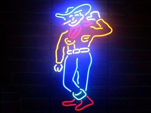 "New Las Vegas Cowboy Beer Light Lamp Neon Sign 17"""