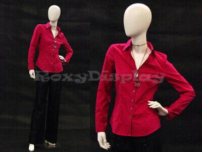 Female Egghead Fiberglass Mannequin Dress Form Display Md-gs7w2