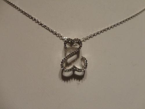 jane seymour open heart necklace white gold ebay. Black Bedroom Furniture Sets. Home Design Ideas