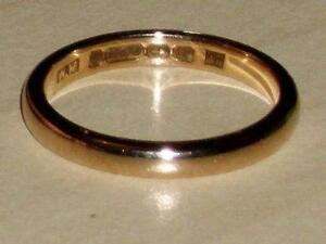 Vintage 9ct Gold Wedding Ring