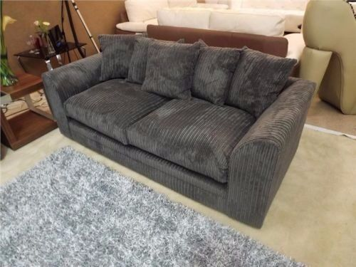 THREE SEATER GREY JUMBO CORD DYLAN SOFA!BRAND NEW!
