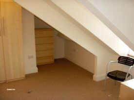 Lovely Large Double Attic Room in Friendly Professional Houseshare, No Deposit