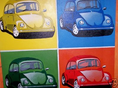 Painting Beetle Style Andy Warhol Acrylic Cm100x100